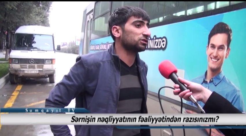Sumqayıt TV: Sumqayıtlılar sərnişin nəqliyyatının fəaliyyətindən razıdırlarmı? - VİDEOSORĞU